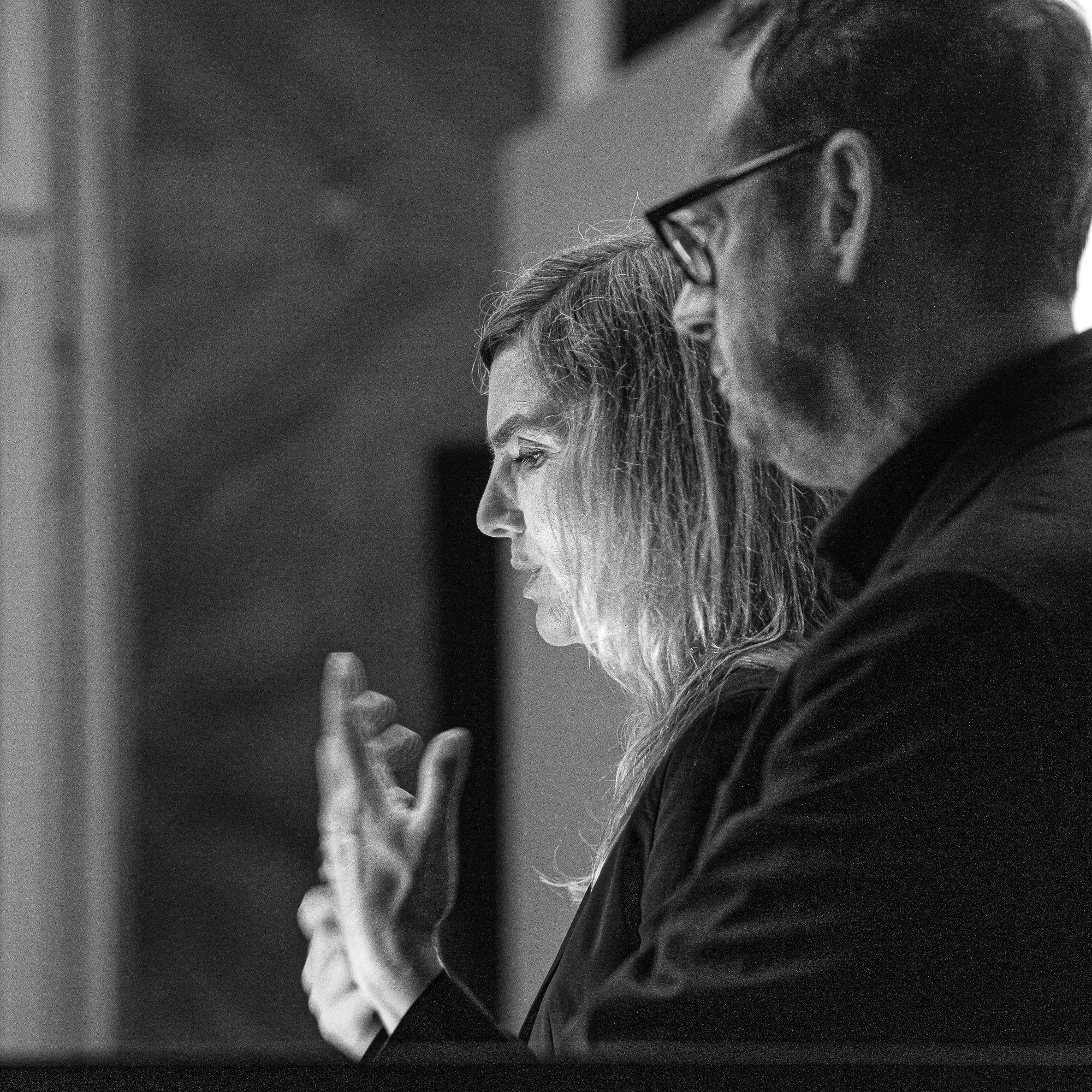 Reichel Schlaier Architekten aus Stuttgart mit einem Werkbericht in der Schalterhalle beim bank[d]ruecken